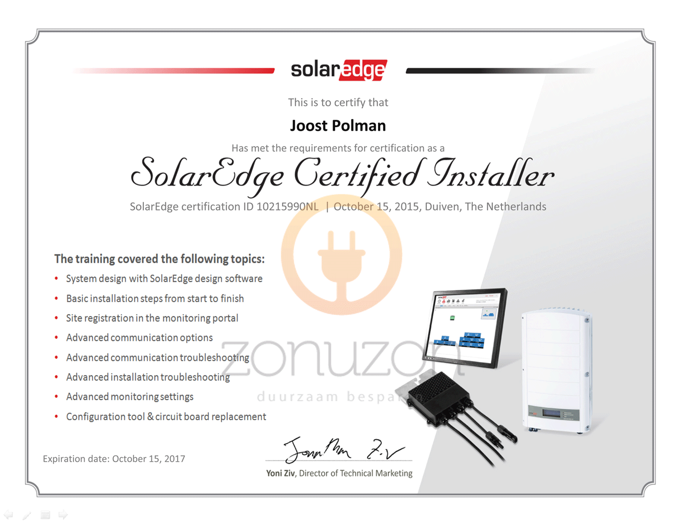 gecertificeerd solaredge installateur